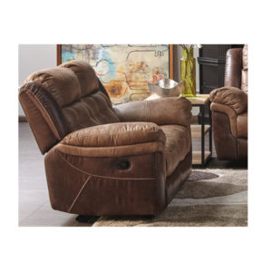 Two-Tone Brown Motion Loveseat