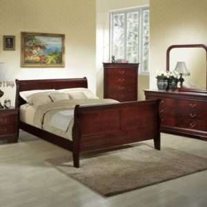 Louis Philippe Full Sleigh Bed