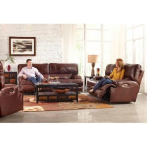 Wembley Walnut Reclining Loveseat