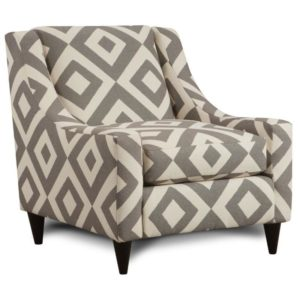 Square Charcoal Accent Chair