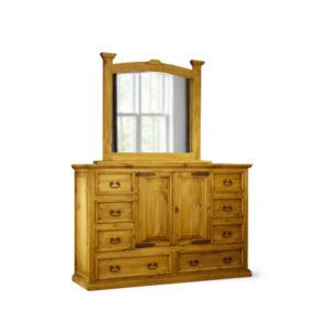 Mansion Dresser & Mirror Natural