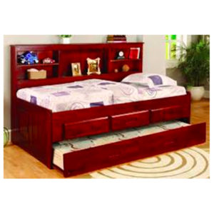 Merlot Full Bookcase Daybed With Trundle And 3 Drawers
