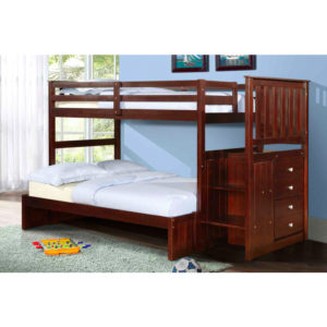 Dickson Twin Over Full Stairway Bunk Bed