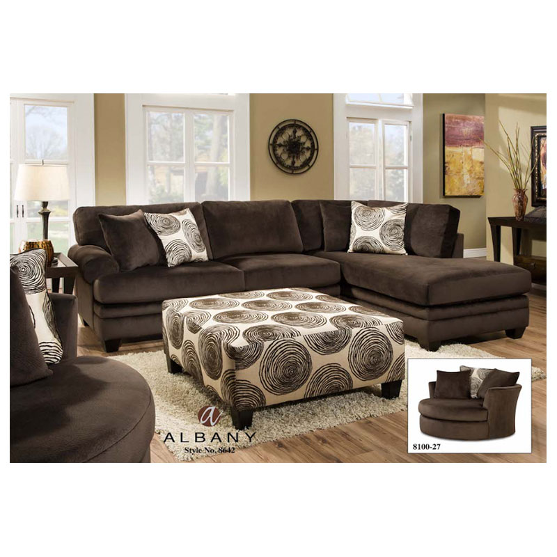Groovy Chocolate Sectional Cleo S Furniture