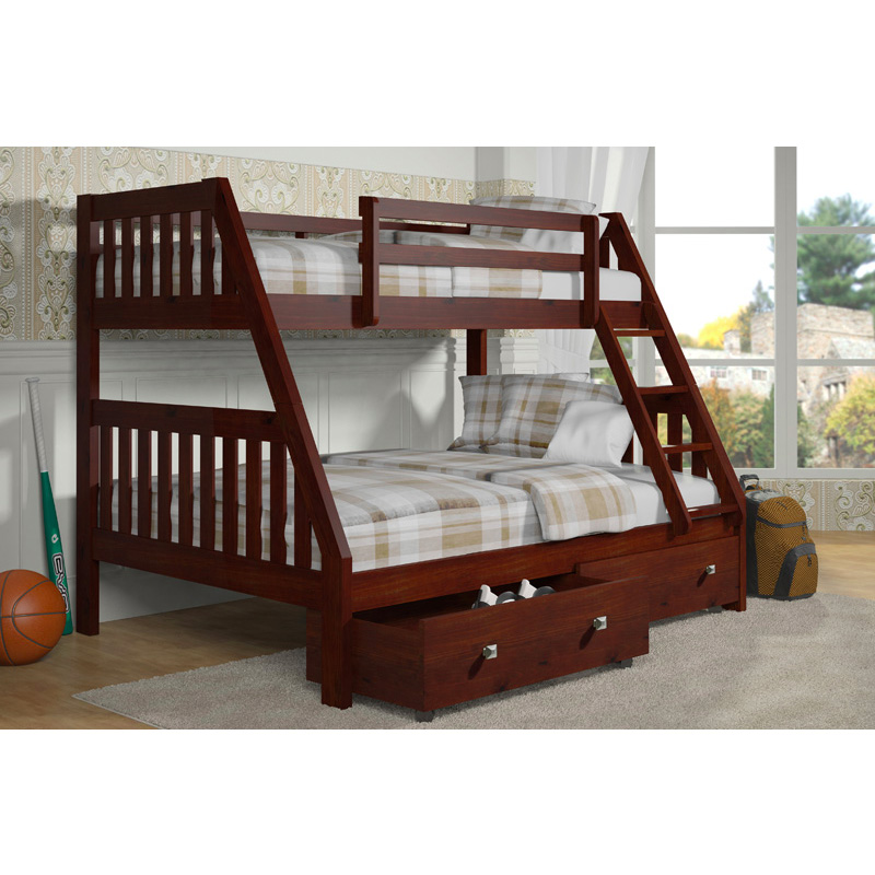 Layton Twin Over Full Bunk Bed With Storage Cleo S Furniture