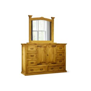 Mansion Dresser & Mirror Natural