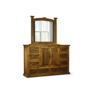 Mansion Dresser & Mirror Tobacco