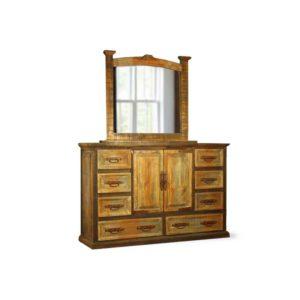 Mansion Dresser & Mirror Tri Color