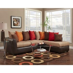 Victory Lane Taupe Sectional