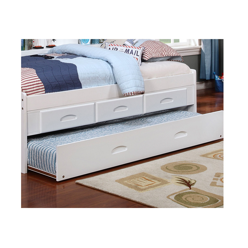 White Full Bookcase Daybed With Trundle And 3 Drawers Cleo S