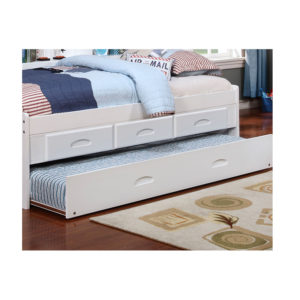 White Twin Bookcase Daybed With Trundle And 3 Drawers