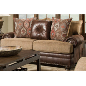 Yellowstone Chocolate Loveseat