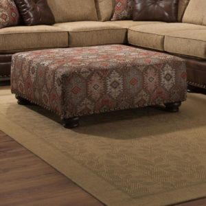 Yellowstone Chocolate Ottoman