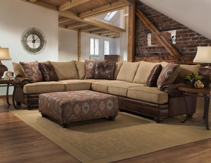 Yellowstone Chocolate Sectional Cleo