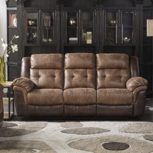 Two-Tone Brown Motion Sofa