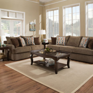 Grandstand Walnut Loveseat