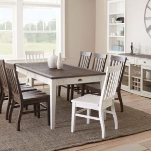 Cayla Dark Oak/White Dining Table
