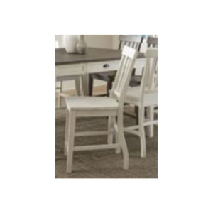 Cayla White Counter Chair