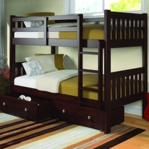 Layton Twin Over Twin Bunk Bed With Storage