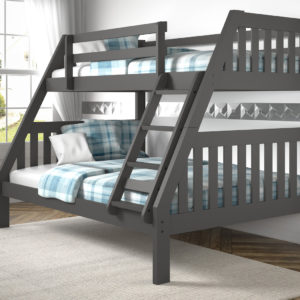Layton Dark Grey Twin Over Full Bunk Bed