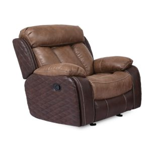 Quilted Umber Glider Recliner