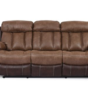 Quilted Umber Reclining Sofa