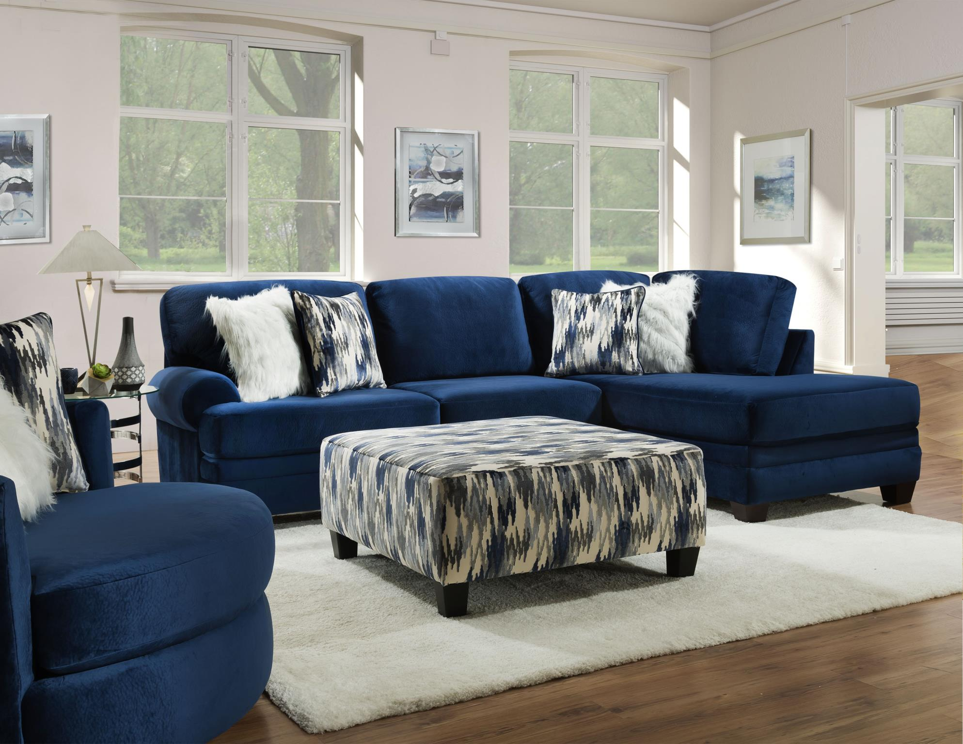 Groovy Navy Sectional Cleo S Furniture