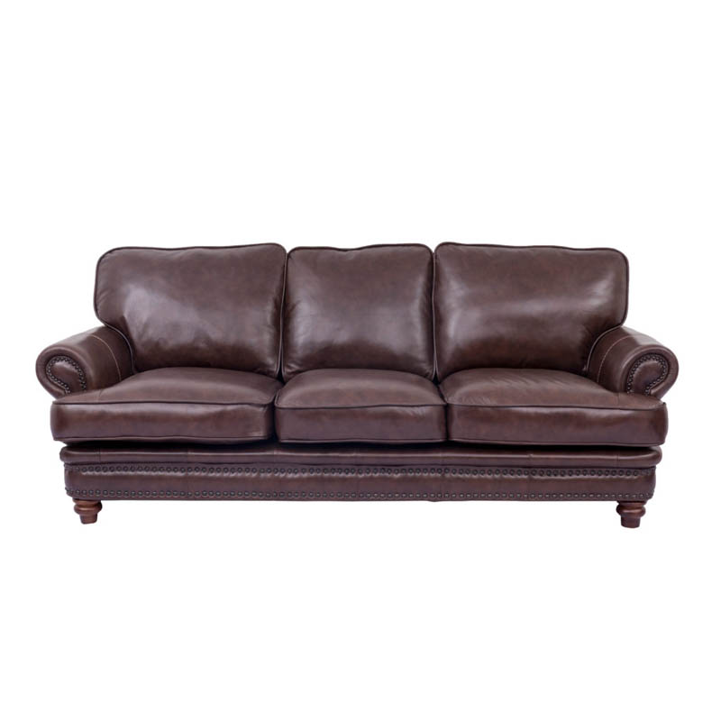 Cleo's Furniture Leather Sofa