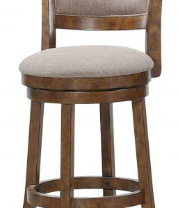 Burnt Brown Swivel Stool 24""
