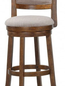 Burnt Brown Swivel Stool 29""