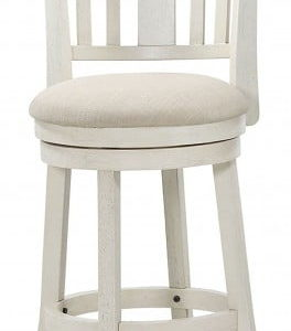 Antique White Swivel Stool 24""