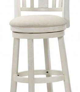 Antique White Swivel Stool 29""