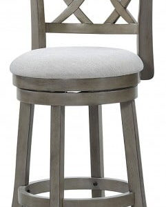 Antique Grey Swivel Stool 24""