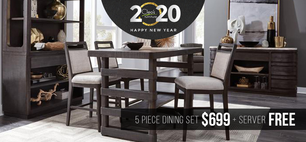 5 Piece Dining Set $699 and Free Server
