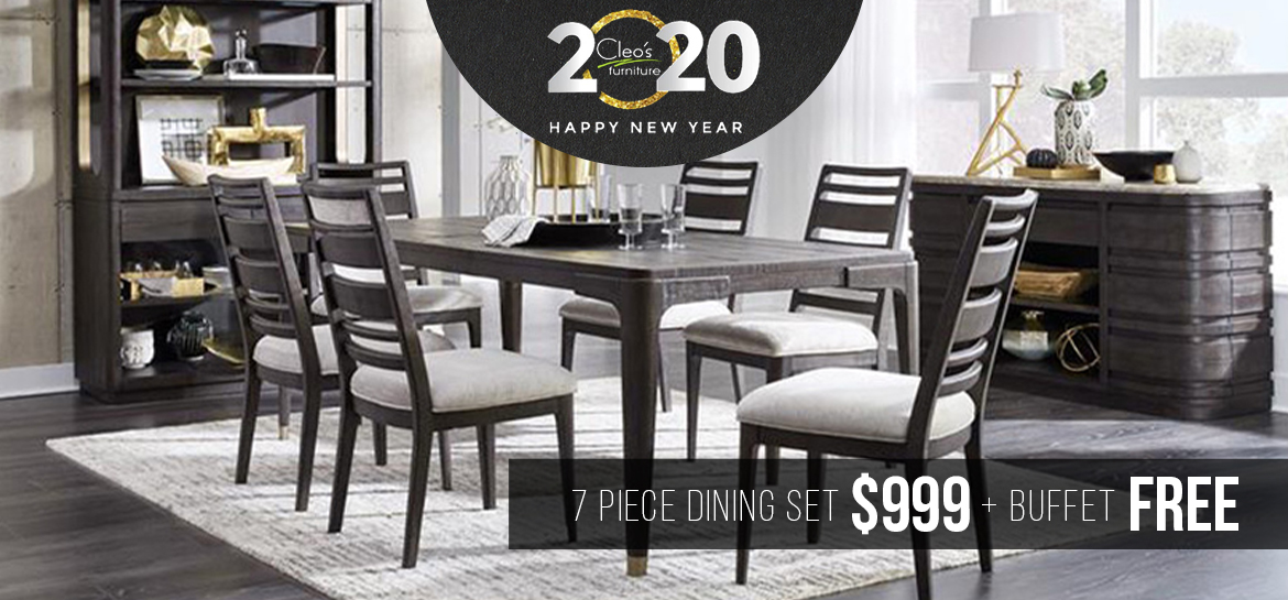 7 Piece Dining Set $999 and Free Buffet