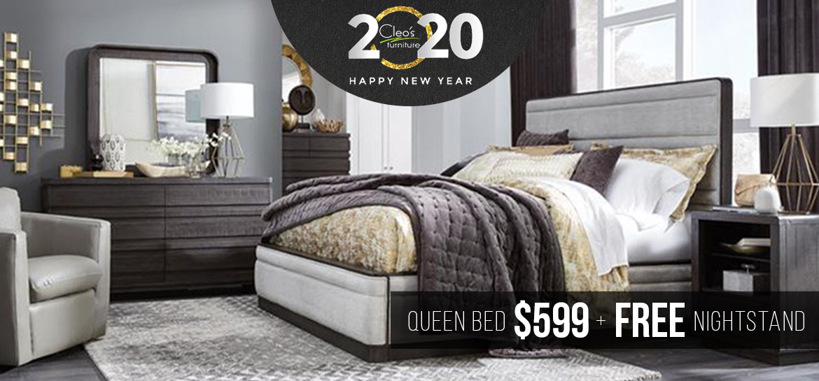 Queen Bed $599 and Free Nightstand