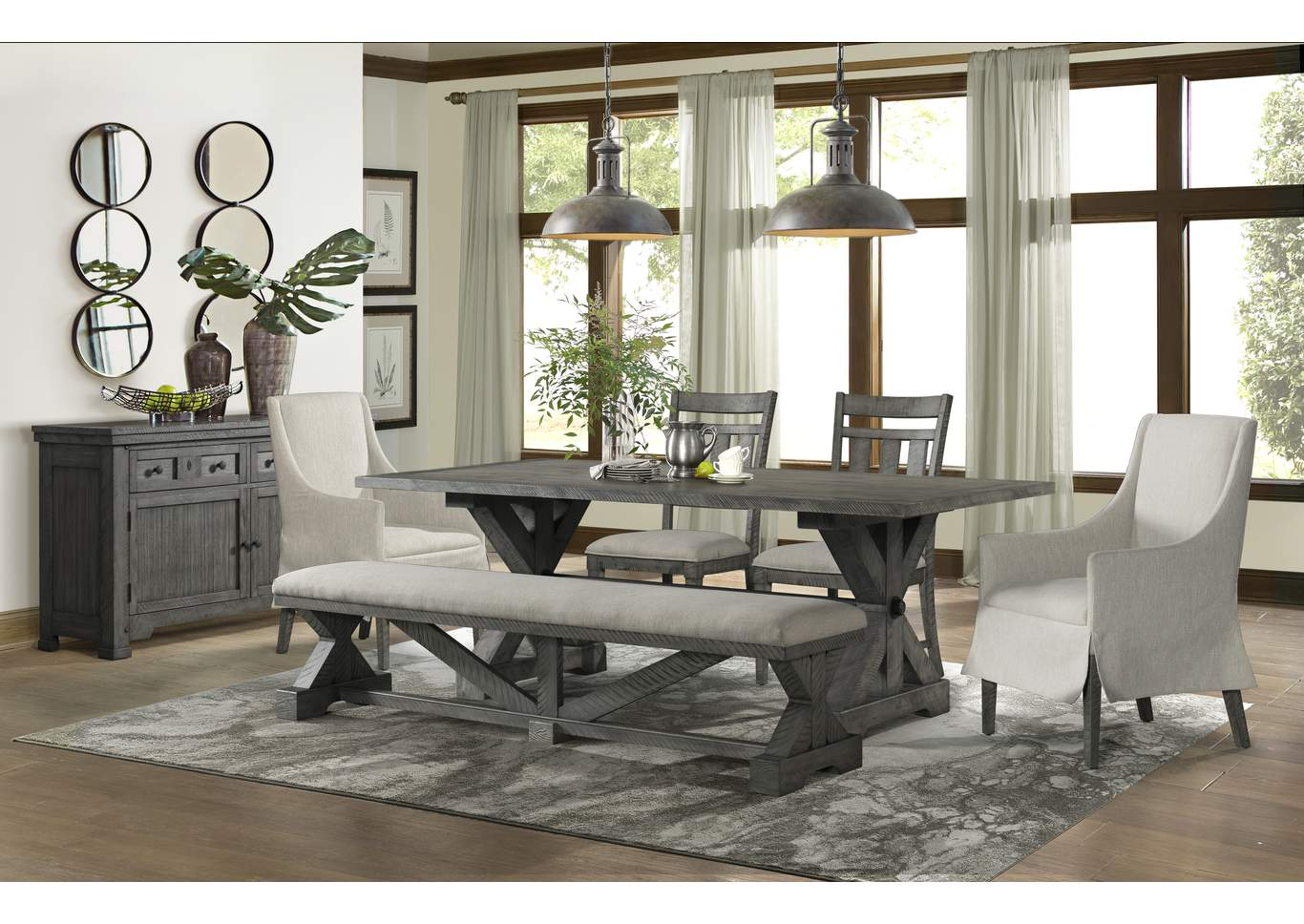 Old Forge Trestle Dining Table Cleo S Furniture