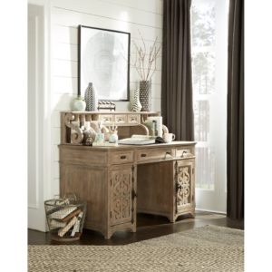 Tinley Park Counter Height Desk W/ Hutch
