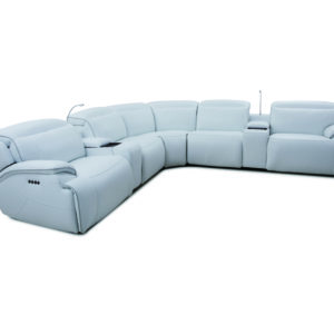 Cosmo Fog 7 Pc Power Sectional W/ Lights