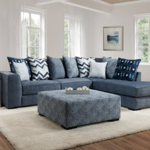 Tussah Blue 2 Pc. Sectional