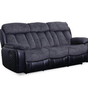Quilted Charcoal Motion Sofa