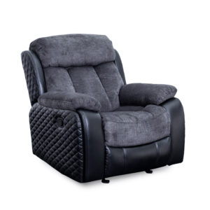 Quilted Charcoal Glider Recliner