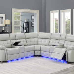 Durango 3 Pc. Power Sectional W/ LED Cup Holders and Light Strip