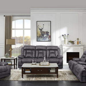 Hawthorne Power Loveseat with Console Granite