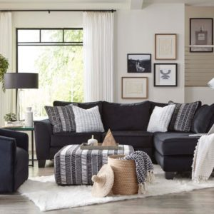 Groovy Black 2 Pc Sectional