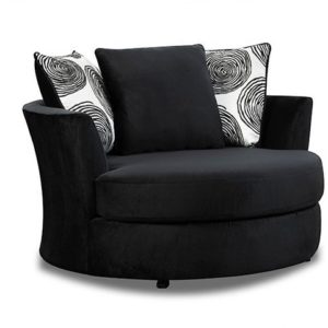 Groovy Black Swivel Chair